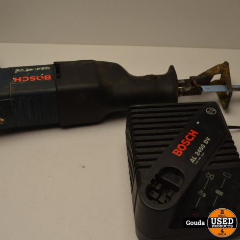 Bosch GSA 24 VE Reciprozaag op 24 Volt accu met oplader, accu niet 100 %