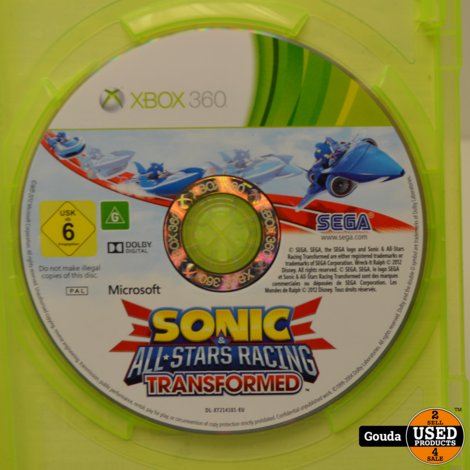 Xbox360 Sonic All Stars Racing Transformed met boekje