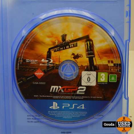 PS4 game MXGP 2 The Official Motorcross Videogame