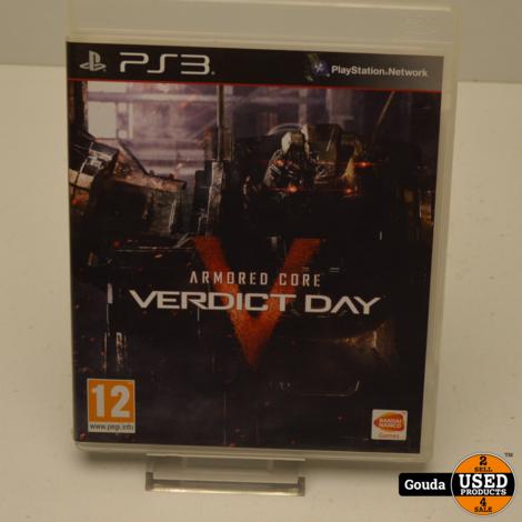 PS3 game Armored Core Verdict Day met boekje