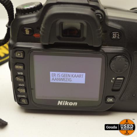 Nikon D80 Body met accu en oplader met error