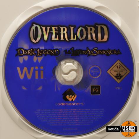 Wii game Overlord Dark Legend met boekje