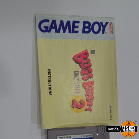 Gameboy game Bugs bunny 2 crazy castle met boekje