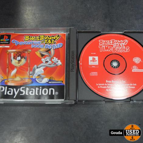 Playstation 1 game Bugs bunny en Taz op avontuur door de tijd