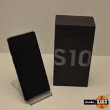 Samsung Galaxy S10 Prism Black 128 Gb In doos met oplader en USB kabel