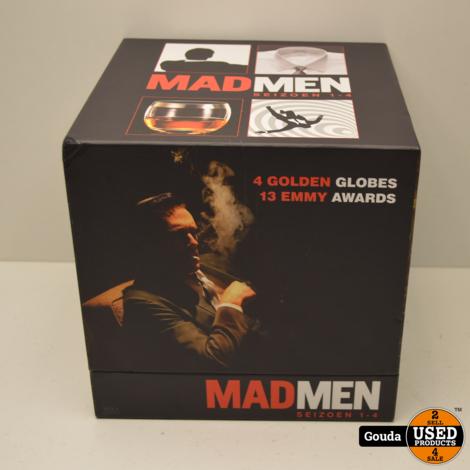 DVD Box MadMen Seizoen 1 t/m 4 NL ondertiteld. In luxe opbergbox