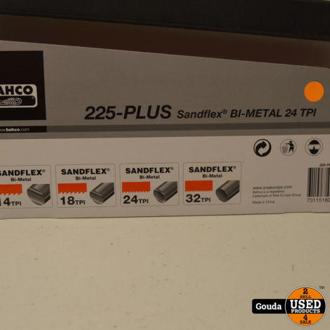 Bahco 225-PLUS IJzerzaagbeugel 300 MM met Sandflex Bi-Metal 24 TPI Zaagblad   NIEUW