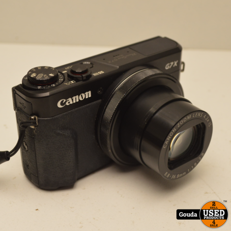Canon PowerShot G7X Mark II compact camera (Vlogcamera) incl 32 GB SD card in doos met oplader.
