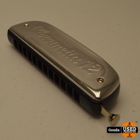 Hohner Chrometta 12 G nr.255 in originele hoes