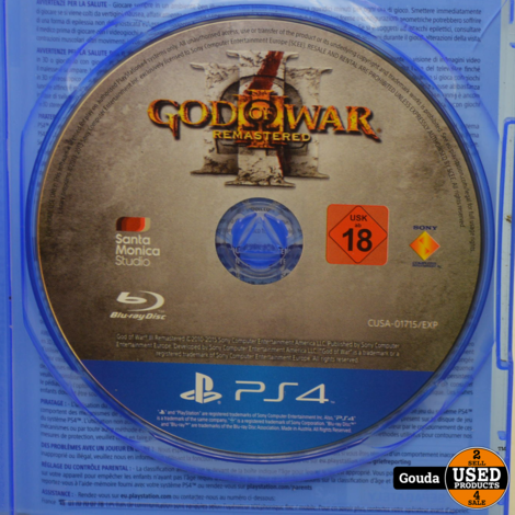PS4 game God of War Remastered