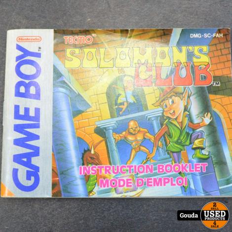 Gameboy game solomons club met boekje