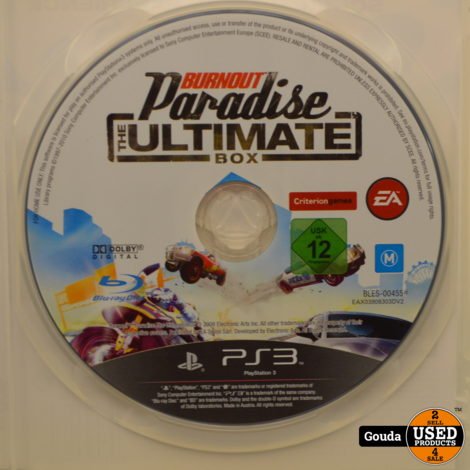 PS3 game Burn Out Paradise