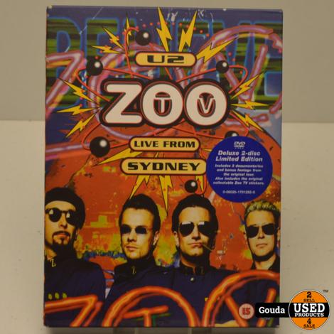 DVD U2 ZOO TV Live from Sydney 2 dvd box Limited Edition met boekje