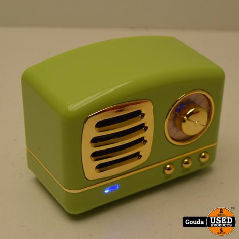 Retro BlueTooth speaker Groen NIEUW in doos