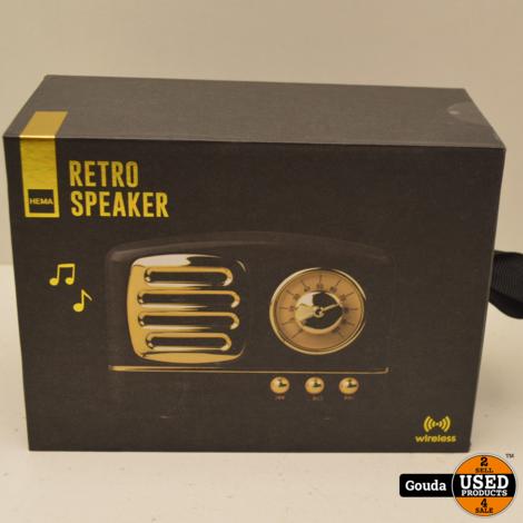Nieuw Retro BlueTooth speaker Zwart