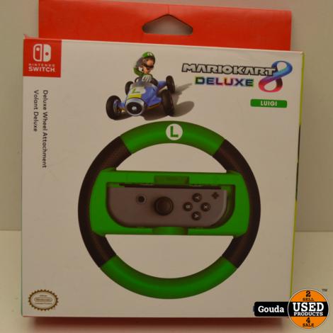 Nintendo Switch Hori Stuurwiel Luigi Groen Z.G.A.N. in doos