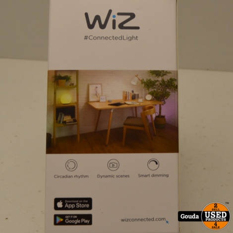 WIZ LED lamp E27 16 Million Colors Warm White to Daylight Slimme LED verlichting, NIEUW in doos