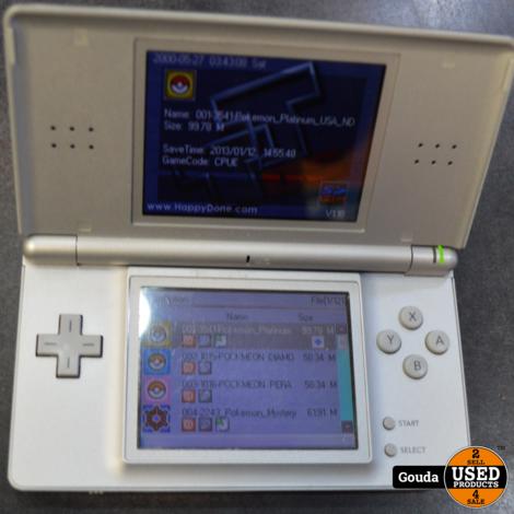 Nintendo ds lite met lader met r4 kaartje