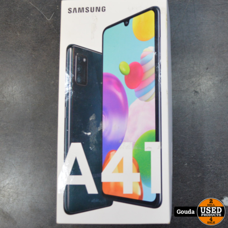 Samsung Galaxy A41 Prism Crush Black 64 GB Z.G.A.N. compleet in doos (Dual Sim)