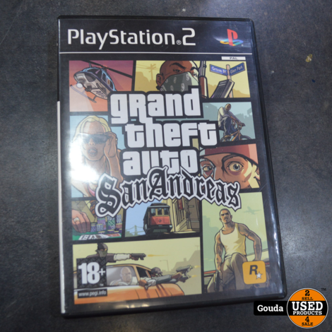 Playstation 2 slim met 1 controller en memorycard en game GTA
