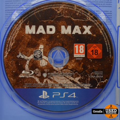 PS4 game Mad Max