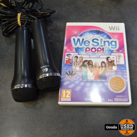 Wii game We Sing POP met 2 microfoons