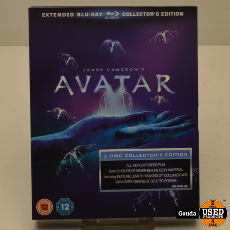 Blu Ray Avatar Extended Collector's Edition 3 Disc's GEEN NL ondertiteling