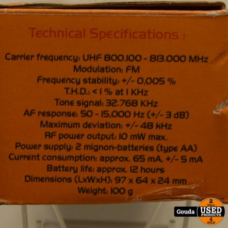 Omnitronic TM-115 Compact Pocket Transmitter / Bodypack 16 channel