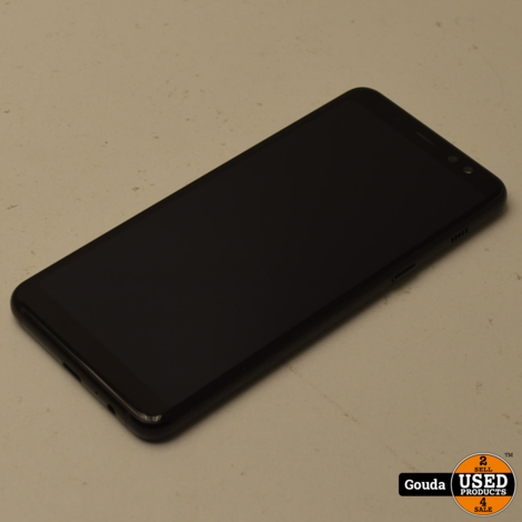Samsung Galaxy A8 2018 32GB Dual sim Black met USB kabel