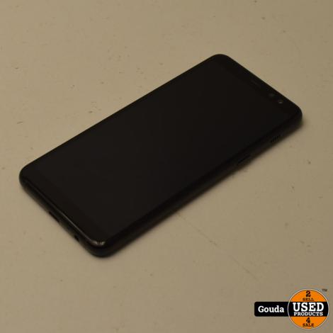 Samsung Galaxy A8 2018 32 GB Dual sim Black met USB kabel