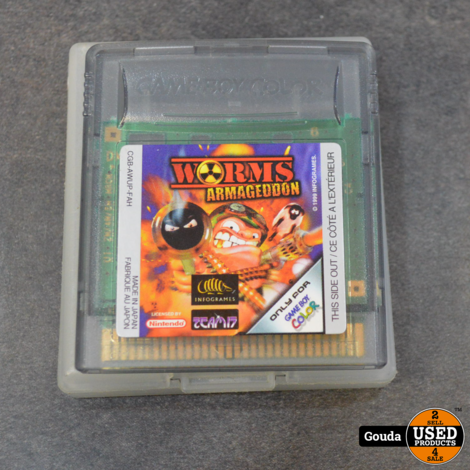 Gameboy color game Worms