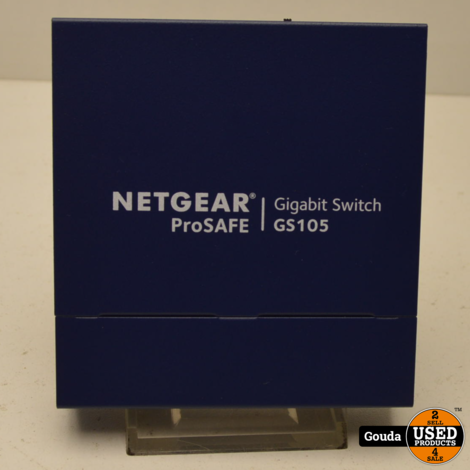 Netgear ProSafe GS105 Gigabit Switch 5 poorts met stroomadapter