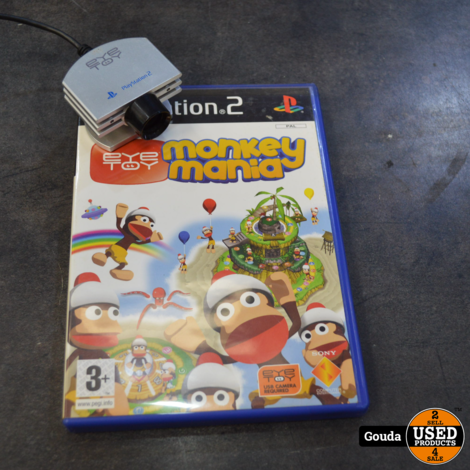 Playstation 2 game Monkey mania  Play 2 en eye toy