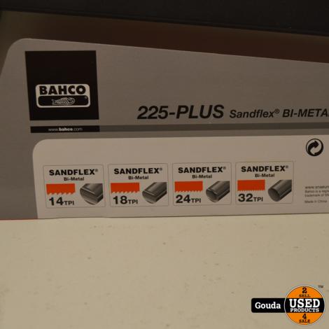Bahco 225-PLUS IJzerzaagbeugel 300 MM met Sandflex Bi-Metal 24 TPI Zaagblad NIEUW Artikel