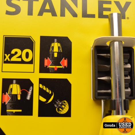 Stanley STHT0-62574 Multibit Schroevendraaier met Ratel 20-delig NIEUW artikel