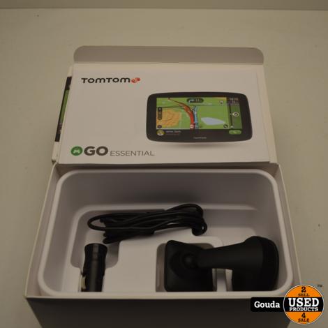 TomTom GO Essential 6 Inch kaart Europa 2019, in doos met raamhouder en 12 V kabel + plug
