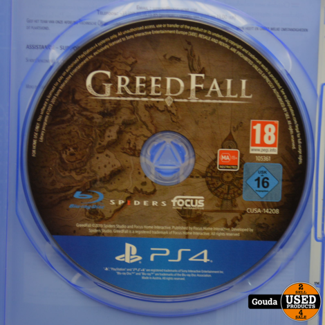 PS4 Game GreedFall