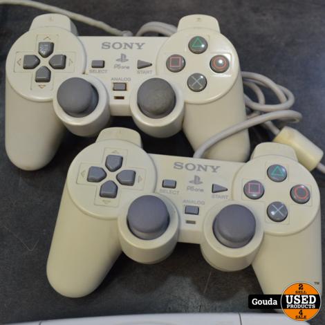 Playstation 1 slim met 2 controllers memory en kabels