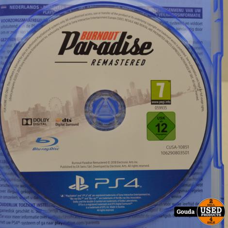 Playstation 4 game Burnout Paradise remastered