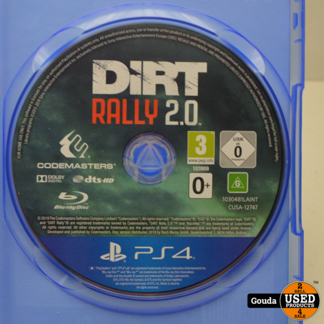 Playstation 4 game Dirt rally 2.0
