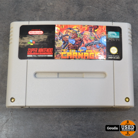Nintendo SNES game Total carnage