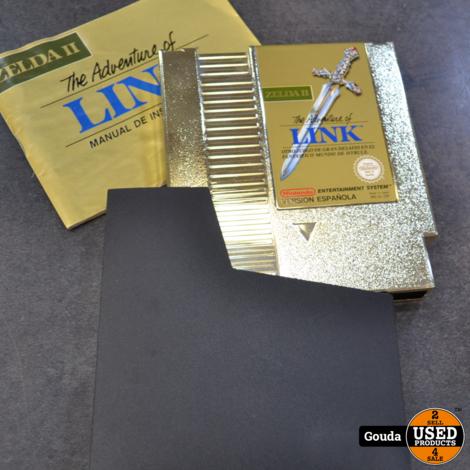 Nintendo NES game Zelda 2 the adventure of link met boekje