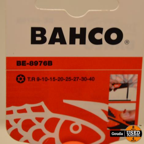 BAHCO BE-8976B Haakse Stiftsleutels, Gebruineerd, voor Torx (8 stuks) NIEUW