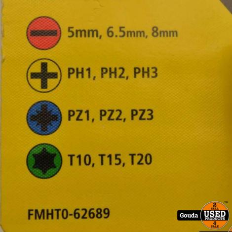 Stanley Fatmax FMHT0-62689 Ratelschroevendraaier 12 Bits Met LED verlichting NIEUW