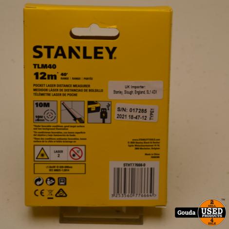 Stanley STHT1-77409 TLM40 afstandmeter Laser 12 Meter Nieuw in doos