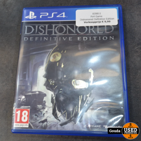 Ps4 Game Dishonored Definitive Edition