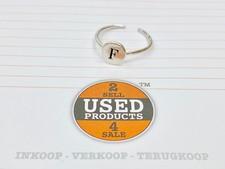 925 Zilveren ring | letter F | 1,20 gram