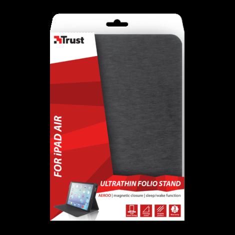 Trust 19838 Aeroo Ultrathin Folio Stand voor iPad Air - zwart   NIEUW