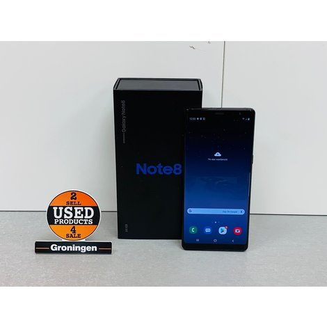 Samsung Galaxy Note 8 N950 Midnight Black | COMPLEET IN DOOS | incl. Cover