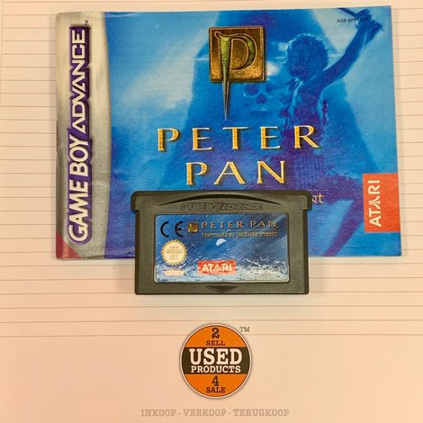 [GBA] Peter Pan The Motion Picture Event | AGB-BPTP-EUR | incl. boekje